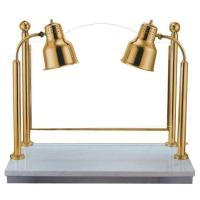 Buy cheap gilded food warmer lamp marble bottom double lamp for buffet dinner product