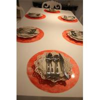 Buy cheap red placemats and coasters Red Round Placemats product