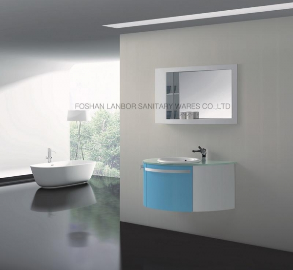 Model Lanbor Wall Mounted Cheap Wood Bathroom Mirror Vanity Corner Cabinet With Light Fs015b