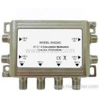 High Effective 2x2x4 cascadeable multiswitch for satellite receiver