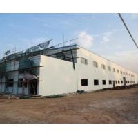Buy cheap Two Storeys Steel Structure Workshop With Brick Wall product