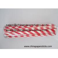 Buy cheap red and white sriped paper straws product