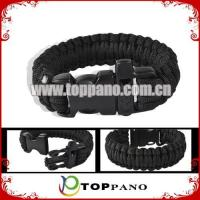 Buy cheap custom black color survival bracelet product