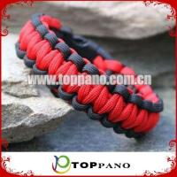 Buy cheap black and red paracord survival bracelet product