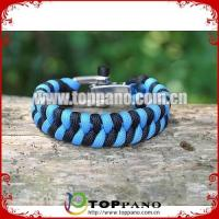 Buy cheap wholesale adjustable shackle survival bracelet product