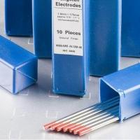 WT20 Polished Red Tip Thorium Tungsten Electrodes for TIG Welding