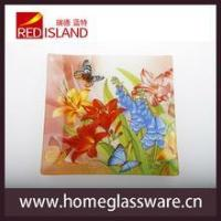 Buy cheap hot sale square shape glass tray glass dishes dinner set product