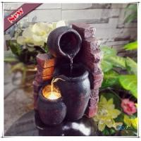 Buy cheap LED Polyresin Indoor Mini Wall Pot Electric Tiered Tabletop Fountain product