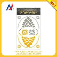 Buy cheap wholesale tattoo bracelet body art shiny gold temporary flash tattoos product