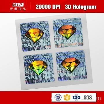 Quality Color Change Custom 3d Holographic Stickers with UV Print for sale