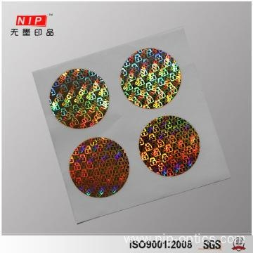 Quality Silver Shiny Round Custom Genuine Hologram Stickers for sale