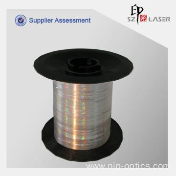 Quality 0.7 mm Holographic Security Thread Yarn with Logo Print for sale