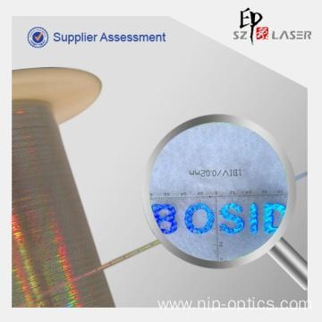Quality 0.8 mm Hologram Polyester Thread for Boston Garment for sale