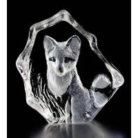 China Baby Fox Crystal Figurine on sale
