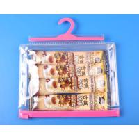 Optional color hook clear bag with matched zip