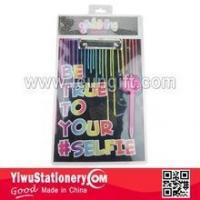 China BACK TO SCHOOL Blister Packing Pink Dog Printed Writing Paper Clipboard wholesale