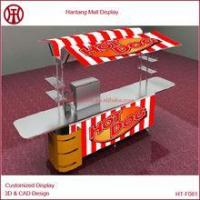 China custom hot dog kiosk with taps and sinks