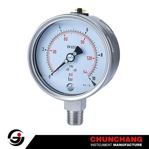 Quality Laser Welding All SS Pressure Gauge for sale