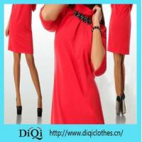 Buy cheap Dress Womens dress half sleeve red casual o neck clothing dress product