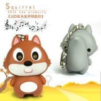 China Hot sale cheap animal led keychain squirrel keychain on sale