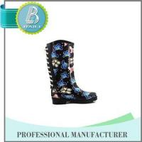 Newest Design Butterfly Print Rain rubber shoes snow grips