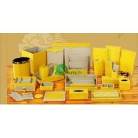 Buy cheap hotel leather yellow products product