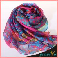Buy cheap Red Flower Infinity Voile Printed Dubai Shawl product