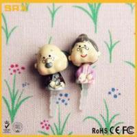 Buy cheap 2 pcs 3.5mm Earcap Anti-dust Plug,CUSTOM Cartoon Grandpa & Grandma Lover For Cell Phone manufacturer product