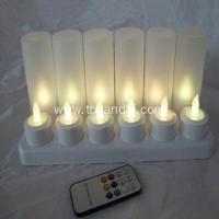 China Truely flame remoted rechargeable LED tealight candle on sale