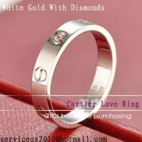 Buy cheap Faux Cartier Love Wedding Ring 18K White Gold With Diamonds product