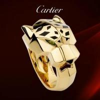 Buy cheap Cartier PANTHERE Yellow Gold Ring with Tsavorite Garnet Onyx Lacquer Leopard product