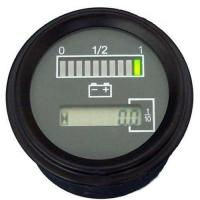 Meters Battery Discharge Indicator with Hour Meter