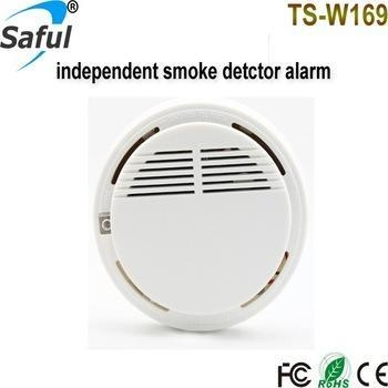 Quality TS-W169 Independent Batteries Smoke Detector Fire Sound And Light Alarm for sale