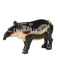 Buy cheap TBP0627k1-tapir wild animal trinket box enameled keepsake box animal decoration product