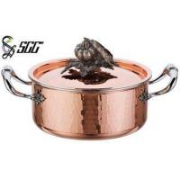 China 18CM Noble Hand Hammered Copper Pots and Pans For Cooking Pot on sale
