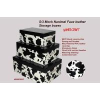 Buy cheap Set of 3 Mock cow storage box product