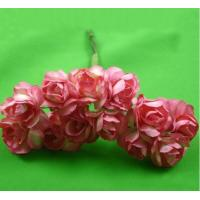 Buy cheap PFPR014Peach Red 2.0cm paper flower rose product