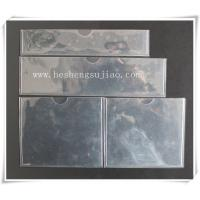 Buy cheap Large custom clear PVC name card Jacket. PVC cover product