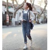 China bib pants/suspender trousers/ trousers with braces/Denim overalls on sale