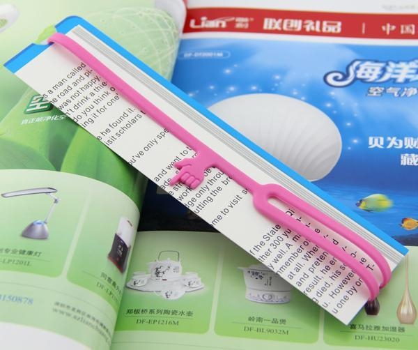Quality silicone book mark for sale