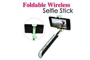 foldable all in one wireless selfie stick of phone 3c. Black Bedroom Furniture Sets. Home Design Ideas