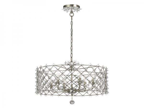 Wrought Iron Chandelier With Crystal Accent Cy 449 Sa