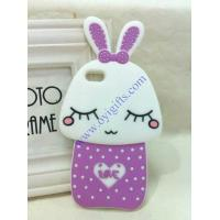 Buy cheap Cartoon shy rabbit silicone phone covers product