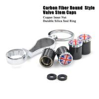 Buy cheap Dreamer Car Carbon Fiber Anti Theft Tire Valve Caps with Spanner SKU: CF product