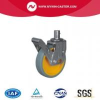 Buy cheap Gray PU Swivel Scaffolding Caster with Yellow Core product