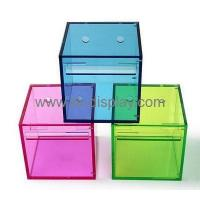 Buy cheap Hot selling acrylic hanging tissue box acrylic box display box tissue paper DBS-128 from wholesalers