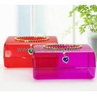 Buy cheap Hot selling clear plastic tissue box transparent plastic box colored acrylic box DBS-095 from wholesalers