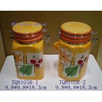 TQ8105R-1-2 Stoneware Decal Printing Food Container(TQ8105R-1-2) for sale