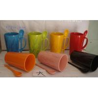 WSY231M V-shaped stoneware hand-painted promotional cup(WSY231M) for sale