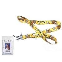 Buy cheap Rilakkuma Bear Lanyard Keychain with Clear Badge Holder product